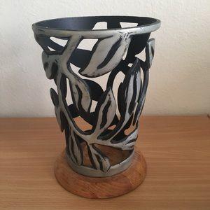 Black and Silver Designed Rustic Vase